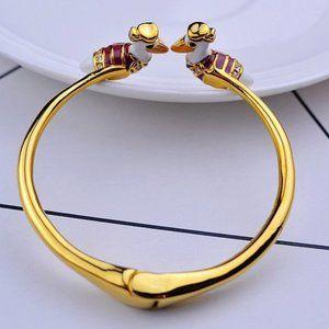 Kate Spade Zircon Enamel Pelican Opening Bracele